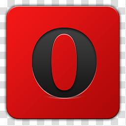 Icon , Opera, Opera Mini logo transparent background PNG.