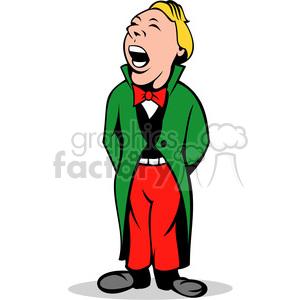 male opera singer cartoon clipart. Royalty.