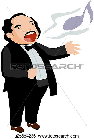 Clip Art of music, character, opera singer, performance, culture.