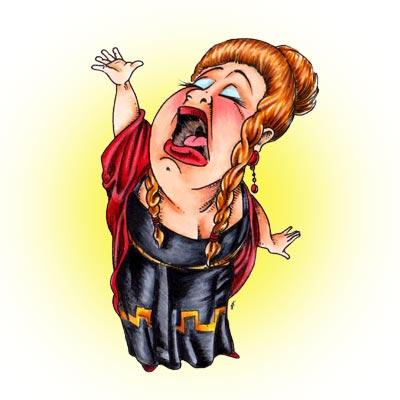 Opera Singer Clip Art.