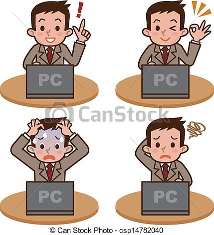 EPS Vector of Man to operate the computer.