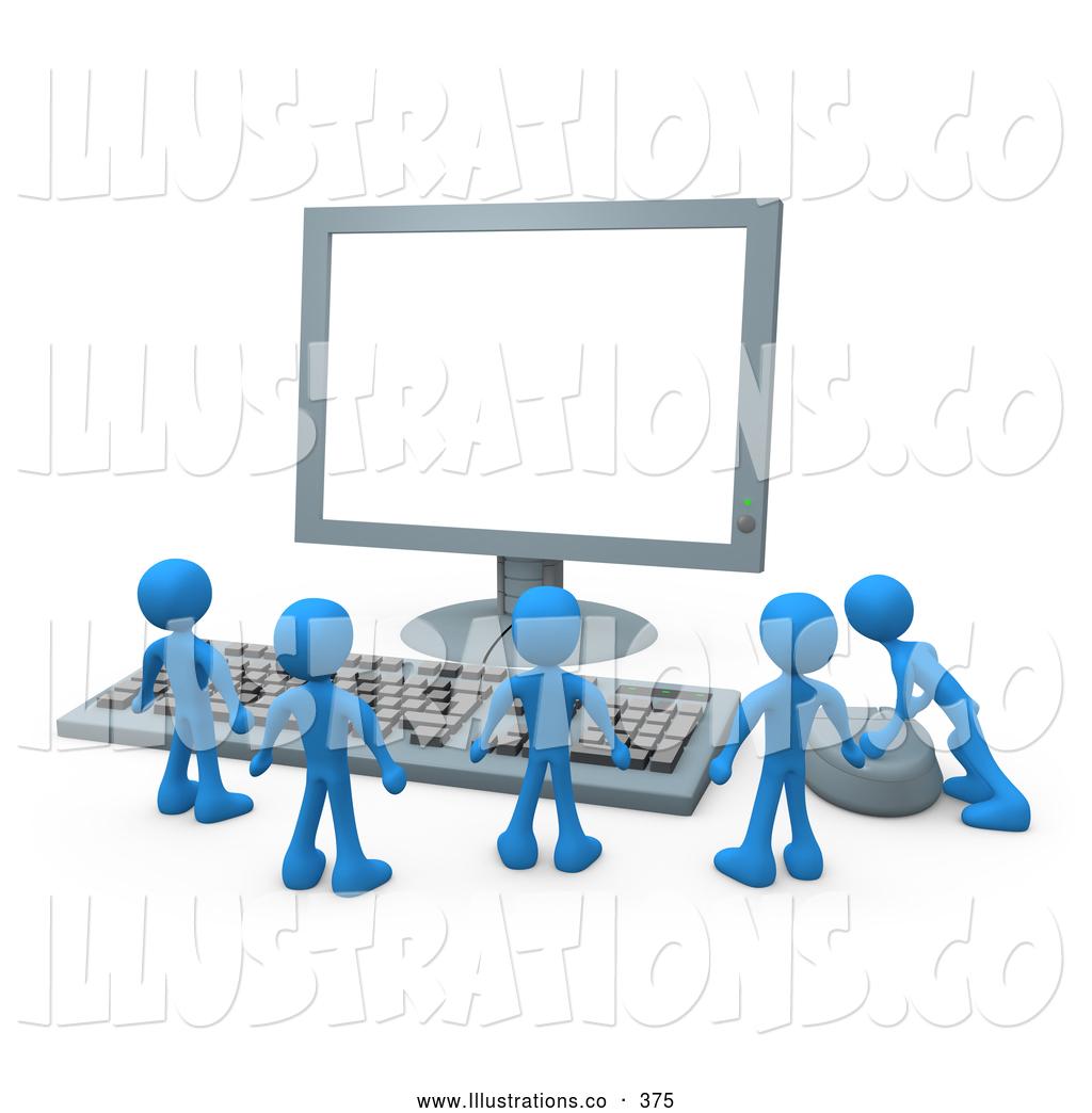 Computer Clip Art Men Groups.