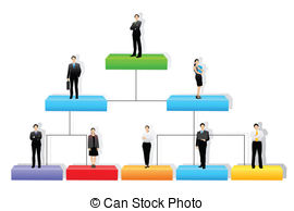 Organizational structure Vector Clipart Royalty Free. 163.