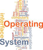 Stock Illustration of Operating system word cloud k3256095.