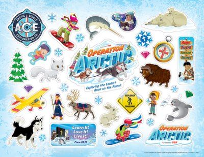 Operation Arctic VBS: Logo/Clip Art Sticker Sheet (pack of.