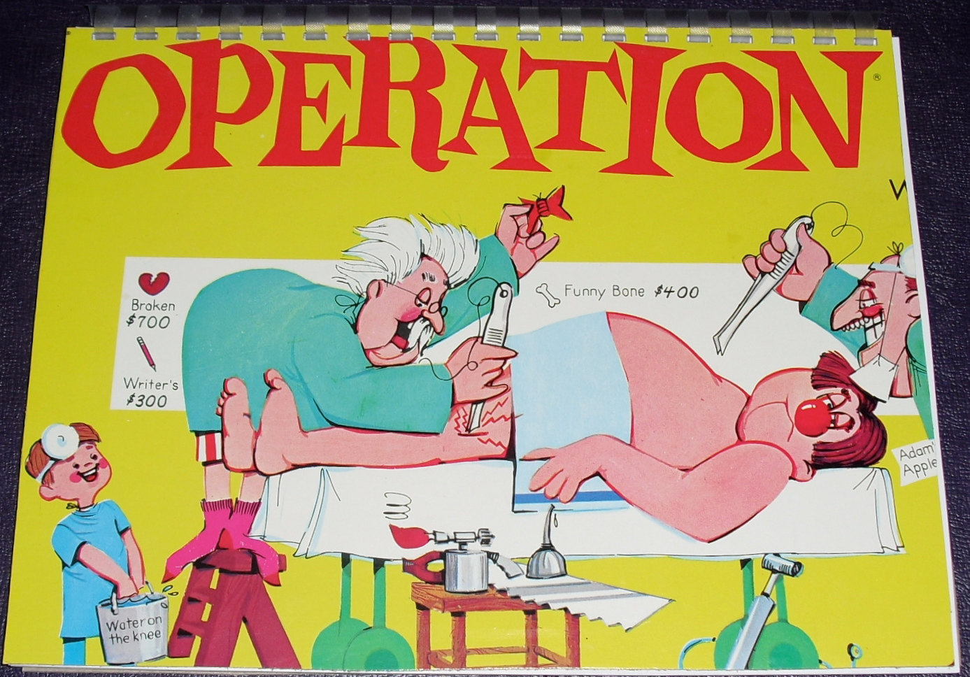 Operation Board Game Clipart.