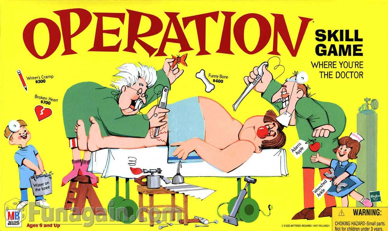 Showing post & media for Operation board game cartoon.