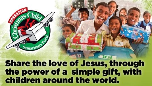 New Life Alliance Church Operation Christmas Child.