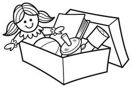 operation christmas child shoebox clipart.
