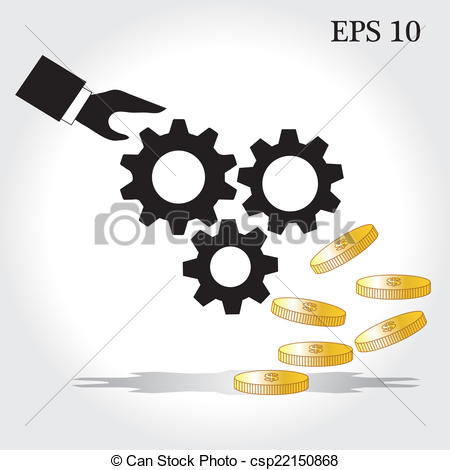 Clip Art Vector of the concept of financial operations vector.