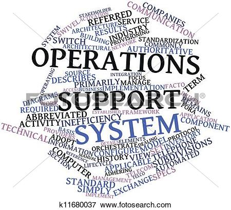 Stock Illustration of Operations support system k11680037.