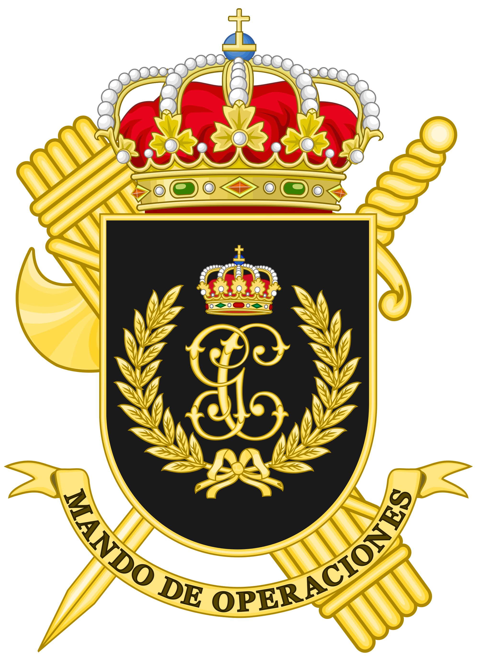 File:Coat of Arms of the Guardia Civil Operations Command.svg.