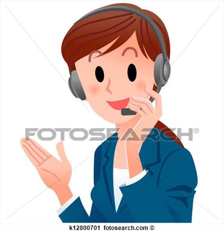 Clipart phone operator.
