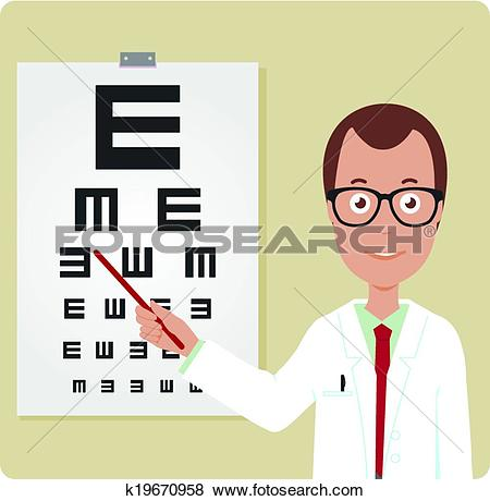 Clip Art of ophthalmologist, hospital, eye hospital, ophthalmology.