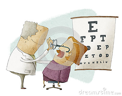 Patient Ophthalmologist Stock Illustrations.