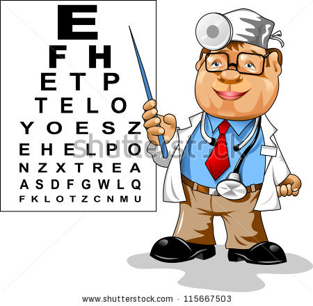 Ophthalmologist clipart.