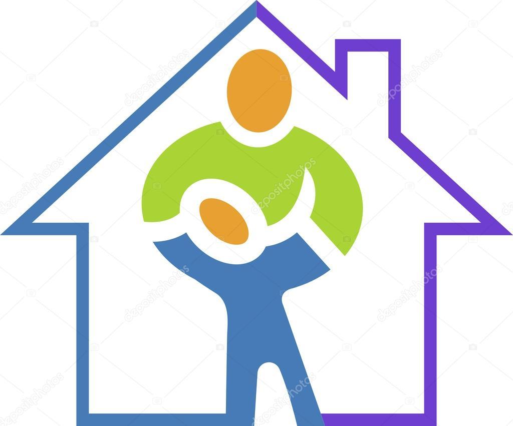 Domowej opieki zdrowotnej logo — Grafika wektorowa © magagraphics.