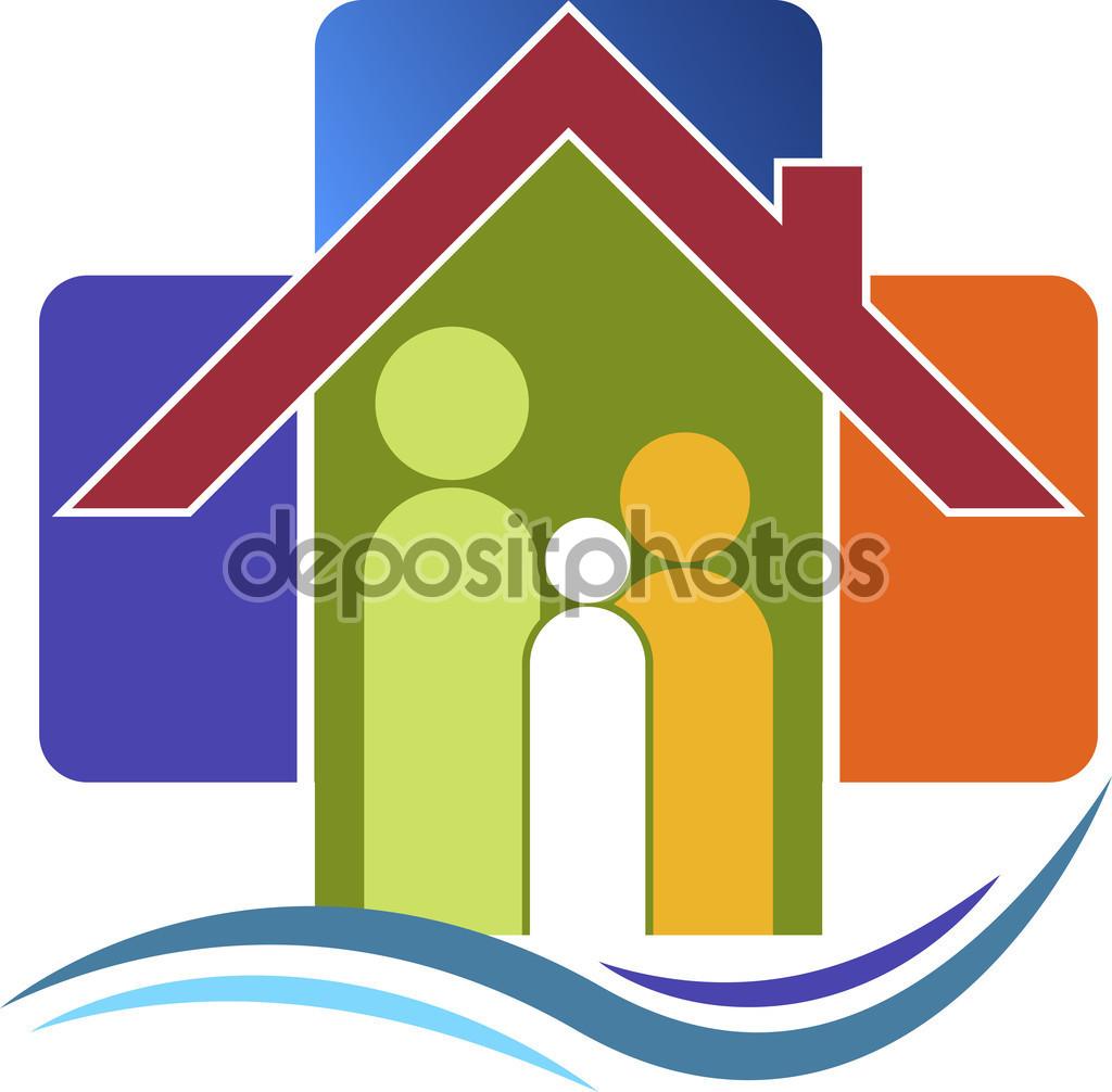 Logo opieki rodzinnej — Grafika wektorowa © magagraphics #58093555.