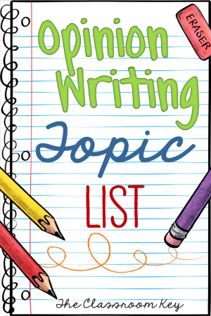 Get Students Excited about Opinion Writing with these 4.