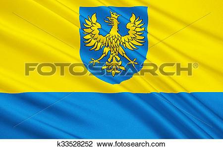 Clip Art of Flag of Opole Voivodeship in Poland k33528252.