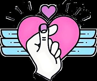 fingerheart korean heart love oppa kpop kdrama iloveyou.
