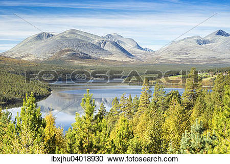 """Stock Photography of """"View from Sohlbergplassen over the."""