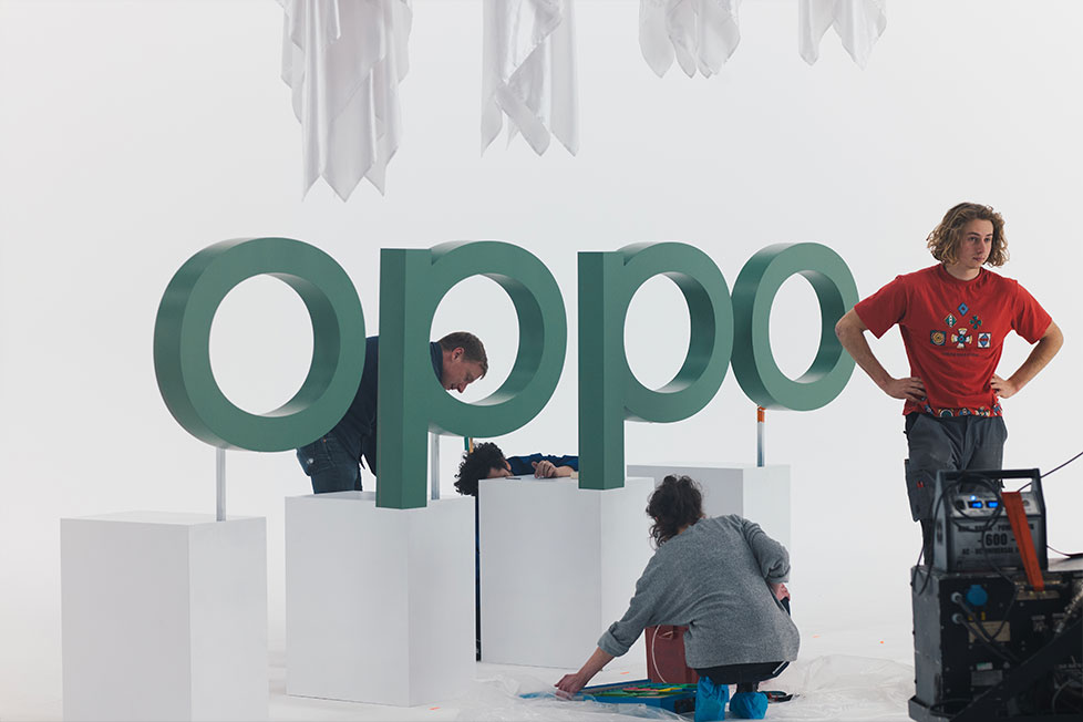 The new OPPO visual identity is celebrated in an art.