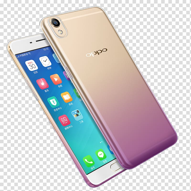 Gold Oppo Android smartphone, Smartphone Feature phone OPPO.
