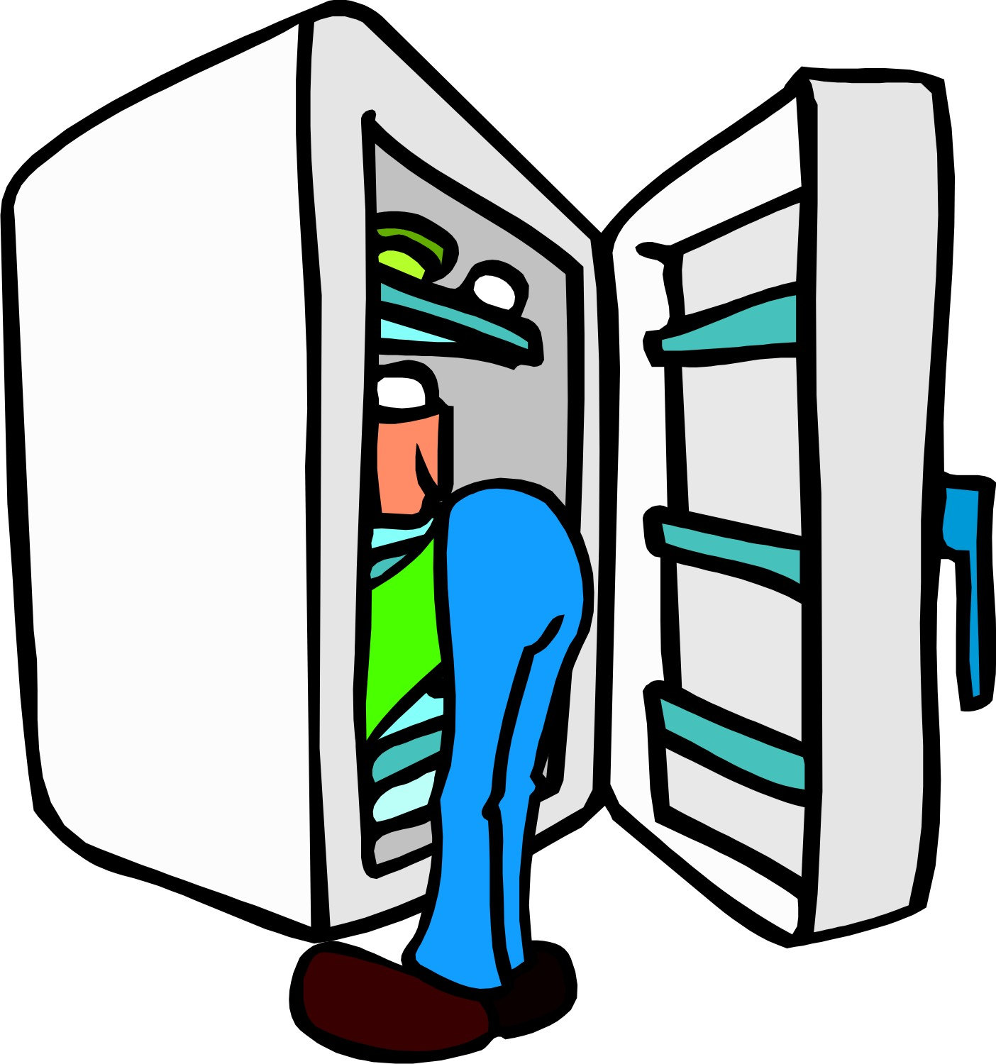 cleaning out refrigerator clipart #8