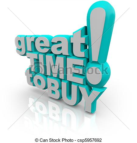 Clip Art of Great Time to Buy.