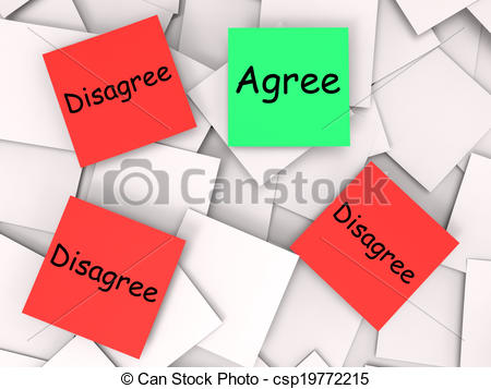 Clipart of Agree Disagree Post.