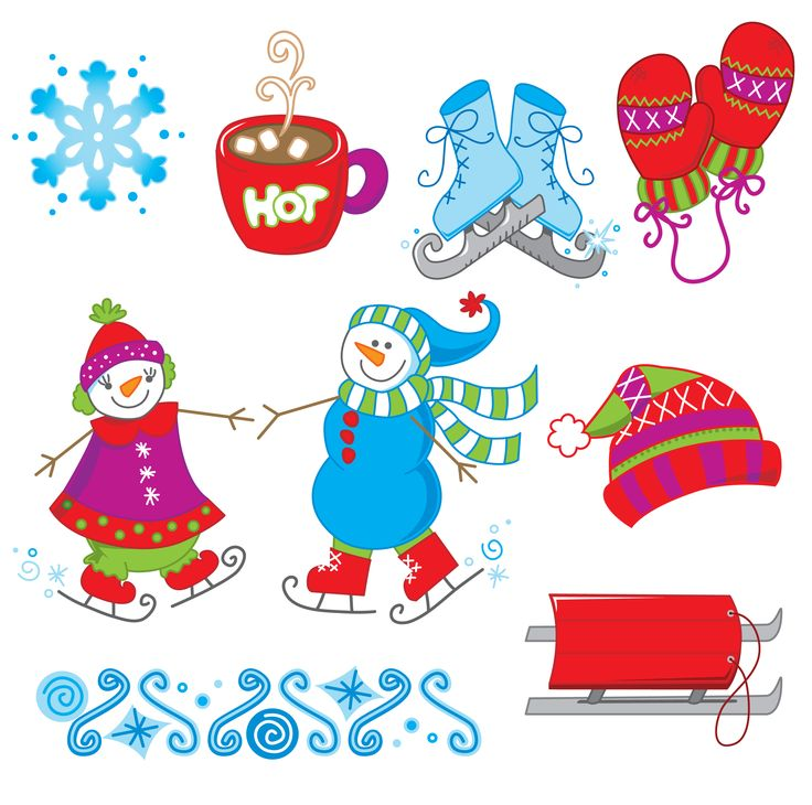 winter snowmen clipart, as opposed to summer snowmen i guess. www.
