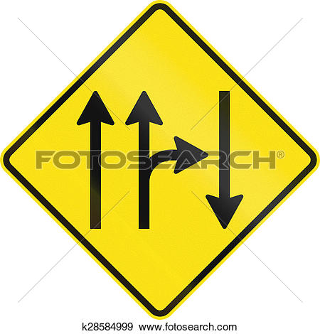 Stock Illustration of Opposing Traffic With Right Turn In.