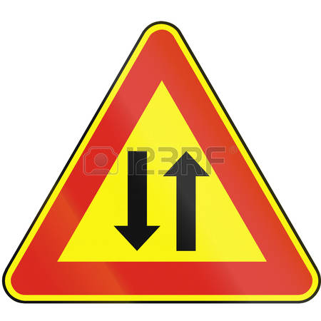 Opposing traffic clipart #2