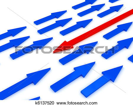 Stock Illustrations of Opposition concept over white background.