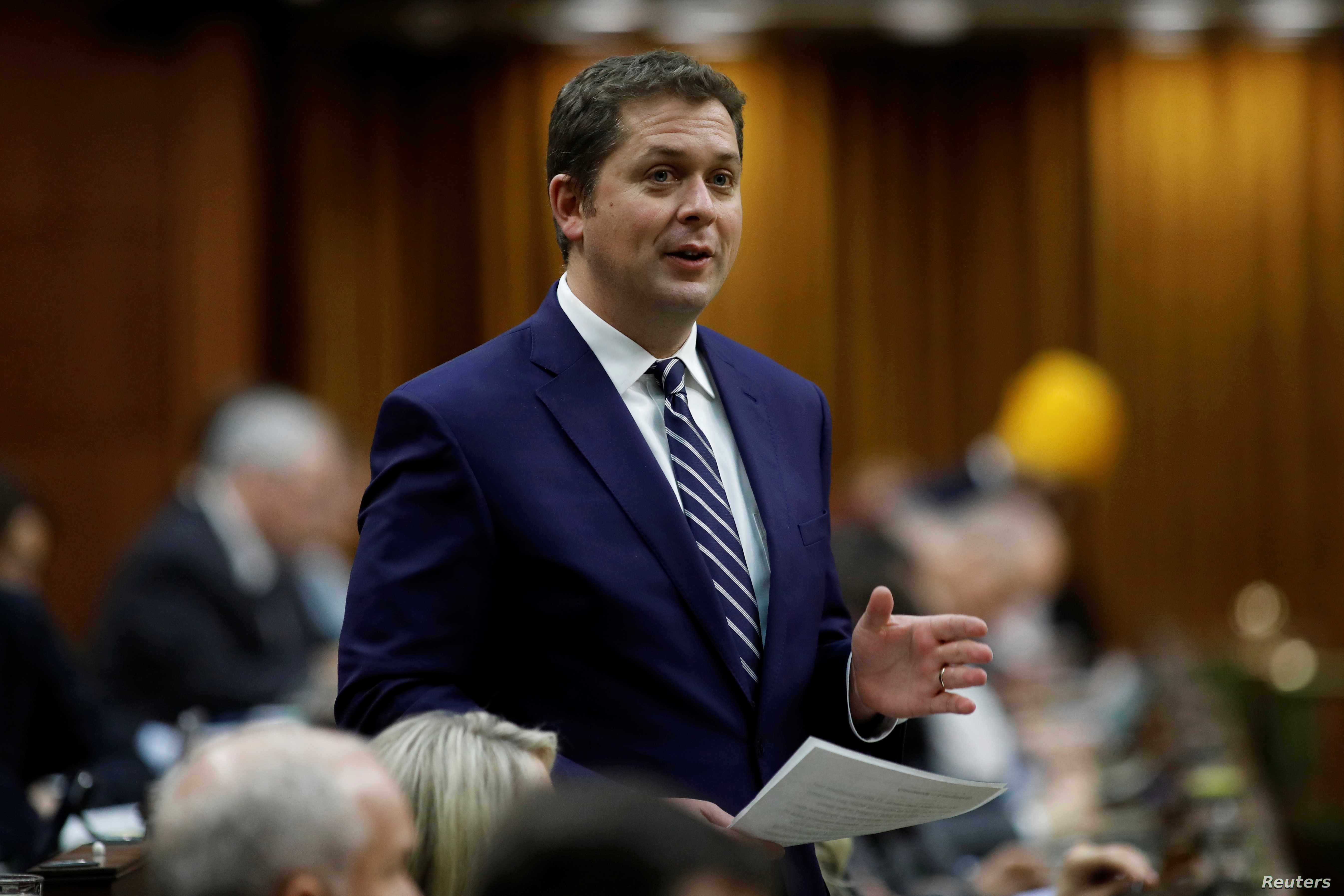 Canadian Opposition Conservative Leader Resigns.