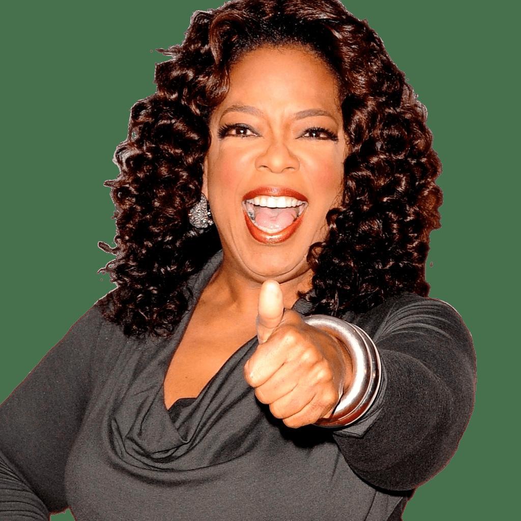 Oprah Winfrey Thumbs Up transparent PNG.