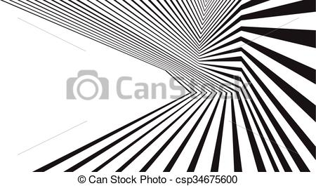 Vector Clipart of optical effect mobius wave stripe design.