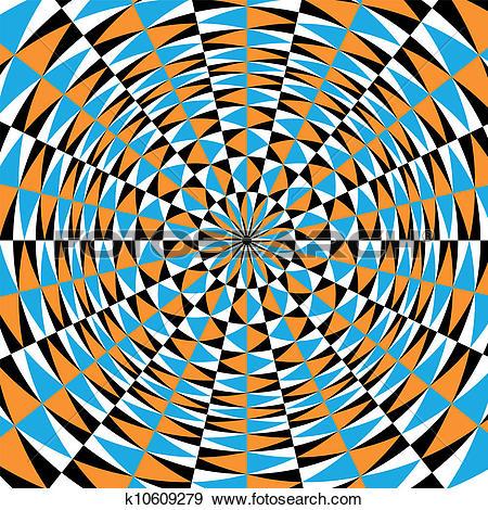 Clip Art of Optical effect of movement. Vector k10609279.