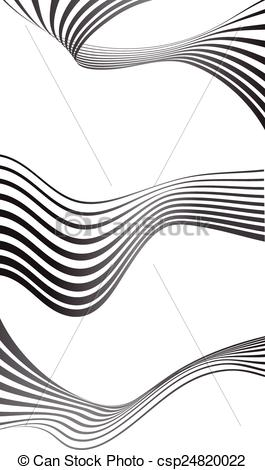 Vector Illustration of optical effect mobius wave stripe design.