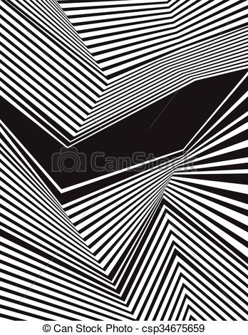 Clipart Vector of optical effect mobius wave stripe design.