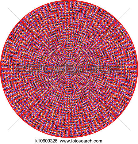 Clip Art of Optical effect of movement. Vector k10609326.