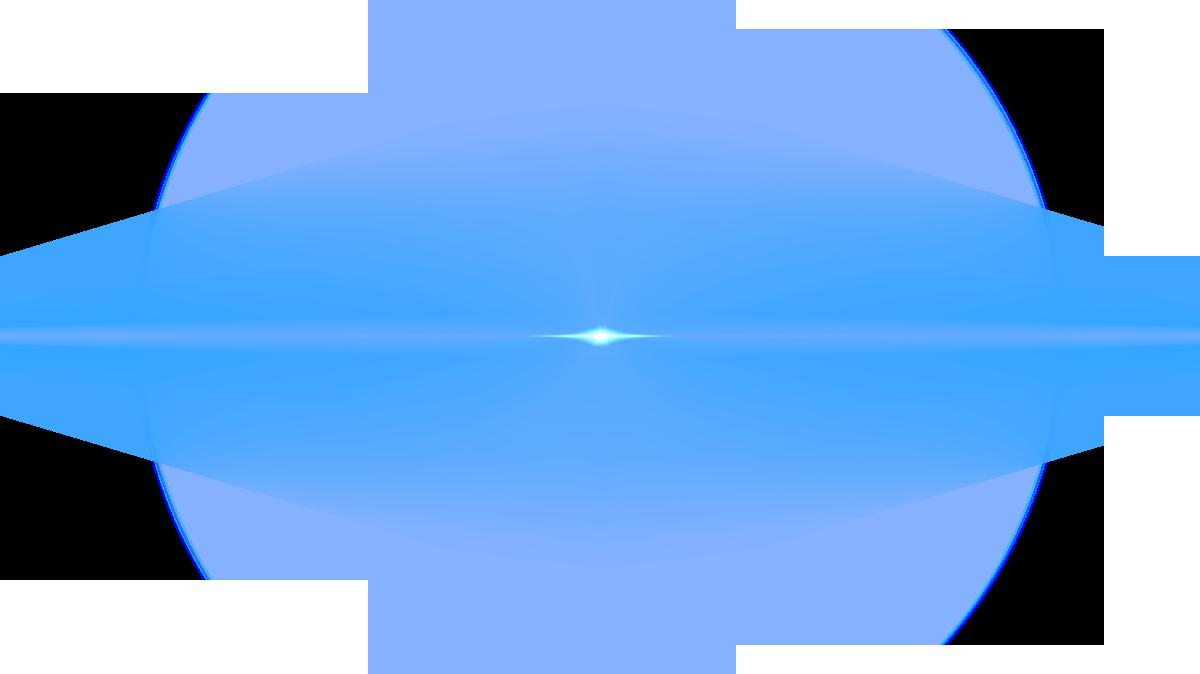 Front Blue Lens Flare PNG Image.