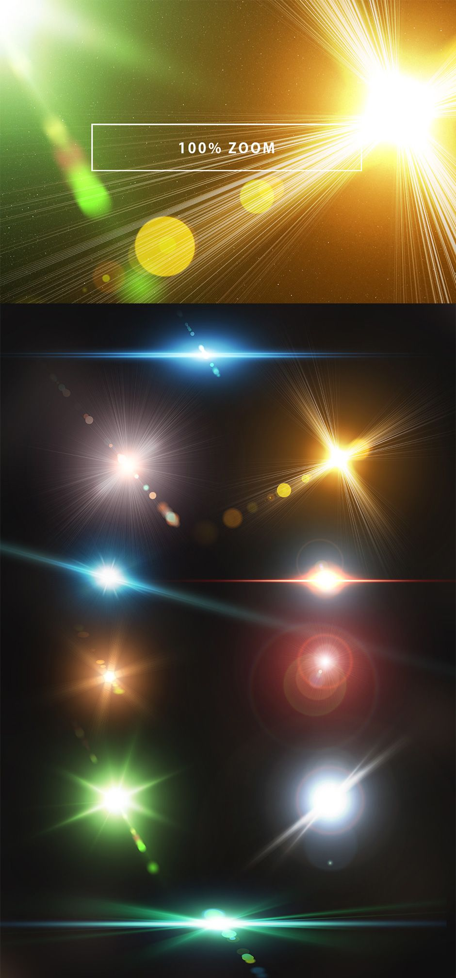 10 Optical Lens Flares Pack 2.