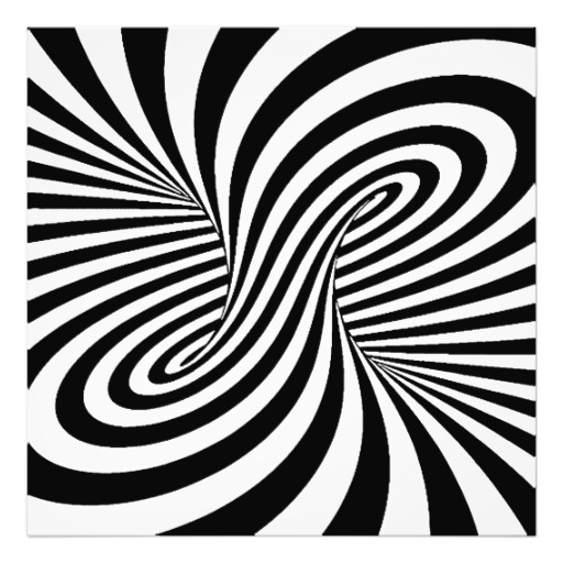 Black white zebra swirls patterns optical illusion photographic.