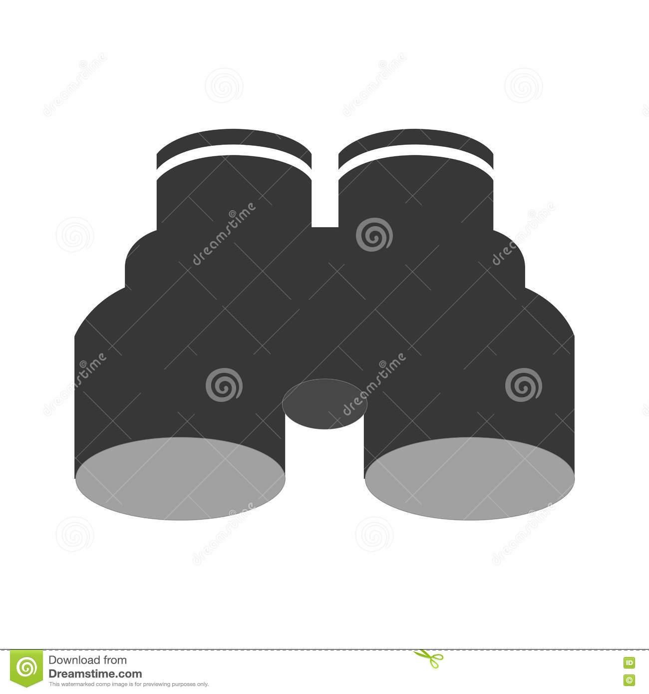 Binoculars Design. Optical Instrument Icon. Stock Illustration.