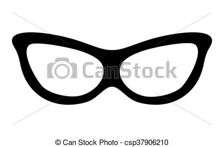 Vector Clip Art of Glasses concept. optical instrument icon.