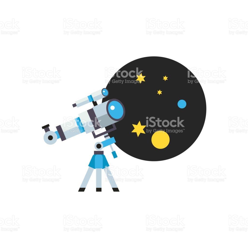 Telescope Optical Instrument Icon stock vector art 642991548.