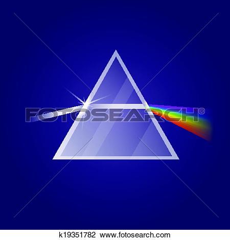 Clipart of Light refraction k19351782.