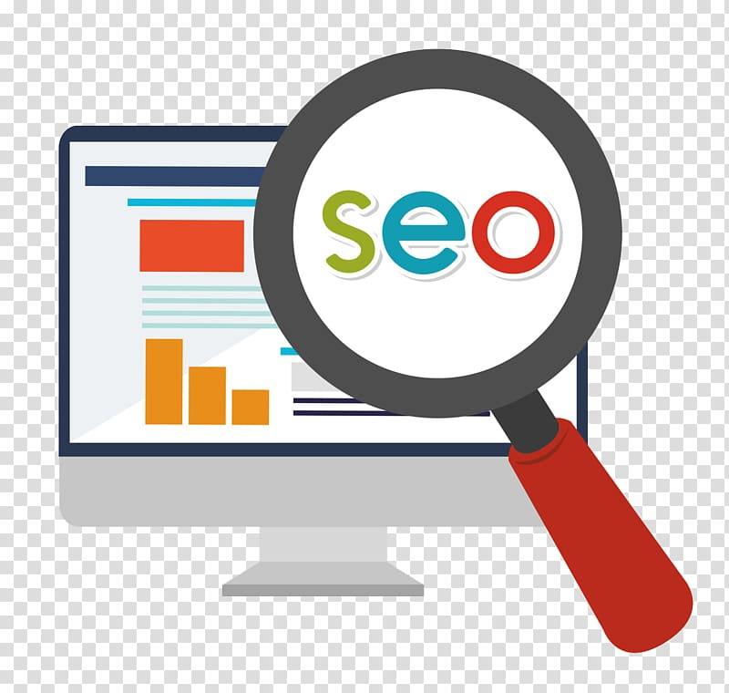 Red magnifying glass illustration, Digital marketing Search.
